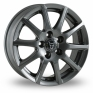 15 Inch Wolfrace Milano Titanium Alloy Wheels