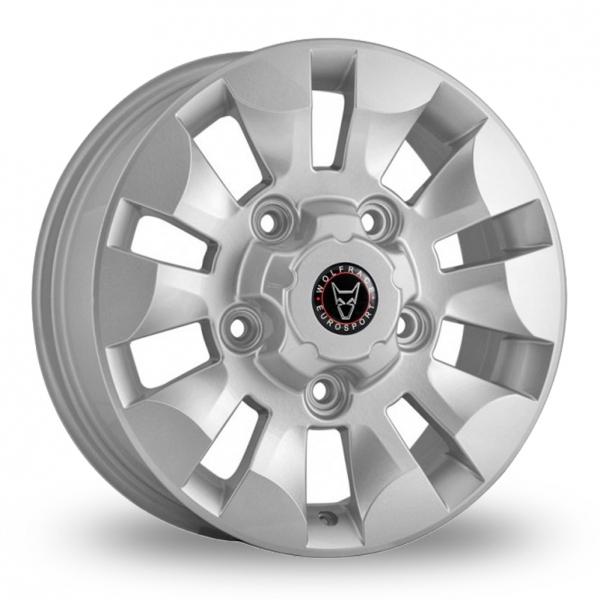 16 Inch Wolfrace TTR Hyper Silver Alloy Wheels