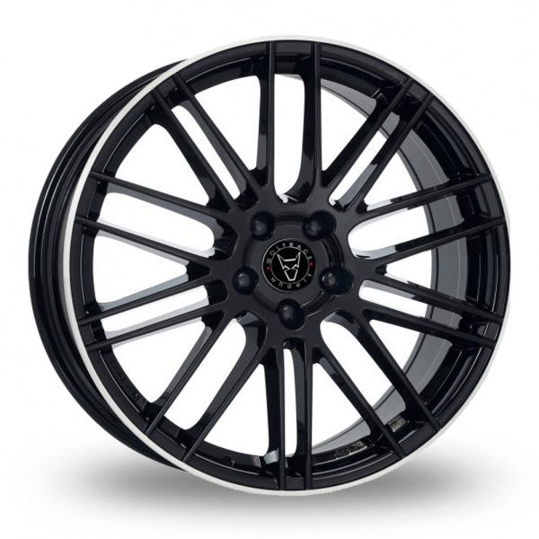 "18"" Wolfrace Kibo Black/Polished Rim Alloy Wheels"