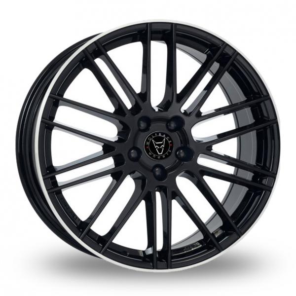 "20"" Wolfrace Kibo Black/Polished Rim Alloy Wheels"
