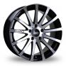 18 Inch Bola XTR Black Polished Alloy Wheels