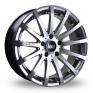 20 Inch Bola XTR Hyper Silver Alloy Wheels