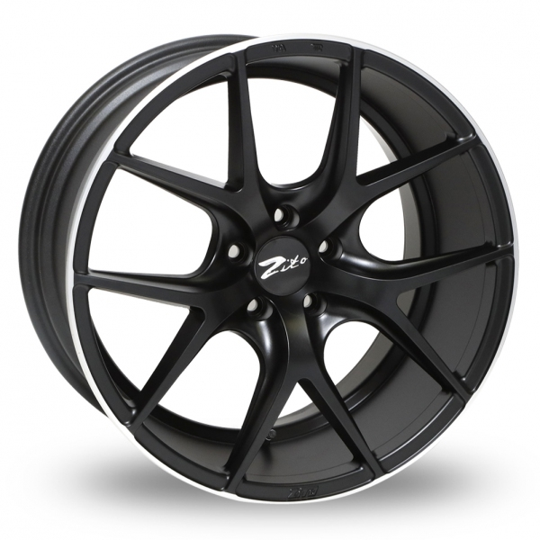"""Picture of 19"""" Zito ZS05 Black Polished Lip Wider Rear"""