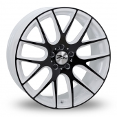 Zito ZL935 White Black Alloy Wheels