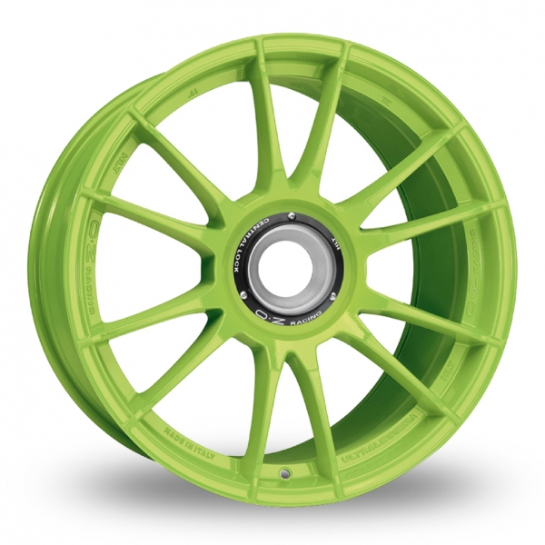 "Picture of 19"" OZ Racing Ultraleggera HLT CL Acid Green Wider Rear"