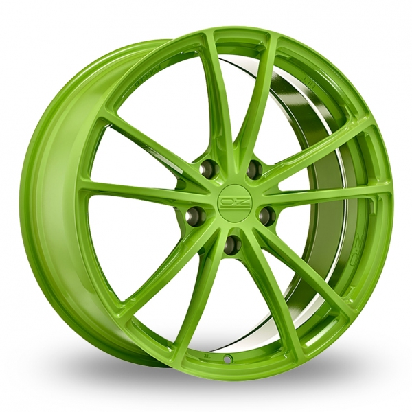 """Picture of 19"""" OZ Racing (Forged) Zeus Acid Green Wider Rear"""