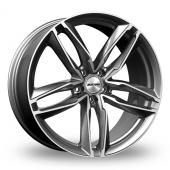 21 inch wider rear bmw 7 series g11 g12 alloy wheels G12 Logo 21 gmp italia atom anthracite polished wider rear