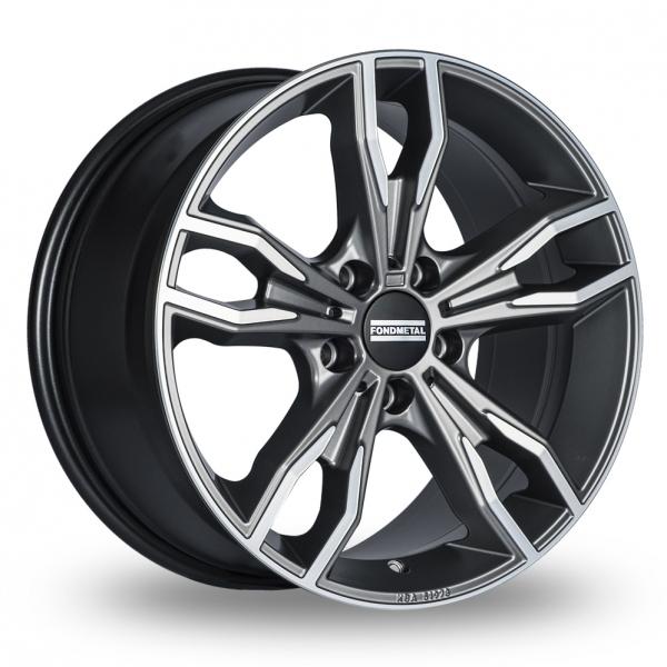 8x19 (Front) & 9x19 (Rear) Fondmetal Alke Titanium Polished Alloy Wheels