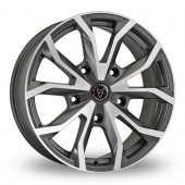 Wolfrace Assassin TRS Grey Polished Alloy Wheels