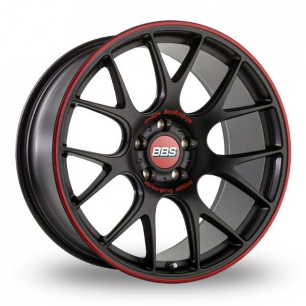 BBS CH-R Nurburgring Wider Rear Black Red
