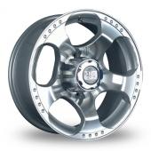 BK Racing 156 Silver Alloy Wheels