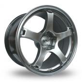 BK Racing 555 Hi Power Silver Alloy Wheels
