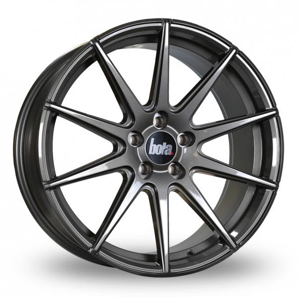 "19"" Bola CSR Gloss Gunmetal Alloy Wheels"