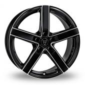 Wolfrace Emotion Black Polished Alloy Wheels