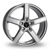 Wolfrace Emotion Silver Alloy Wheels
