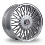 17 Inch Axe EX3 Silver Polished Alloy Wheels