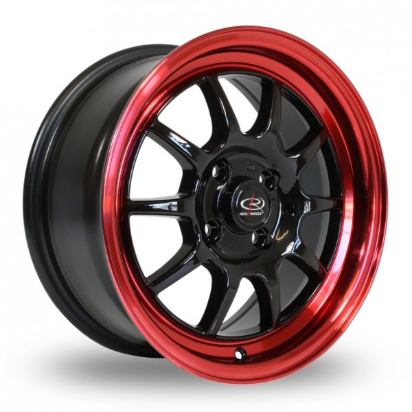 "Picture of 16"" Rota GT3 Black/Red Rim"