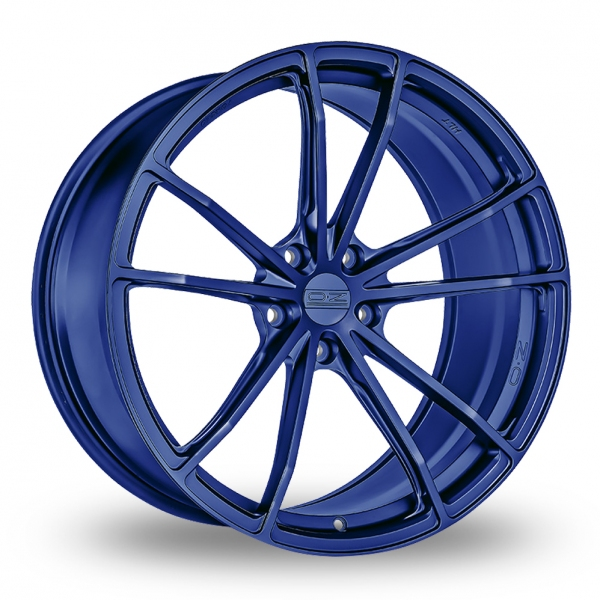 "Picture of 19"" OZ Racing (Forged) Zeus Matt Blue Wider Rear"
