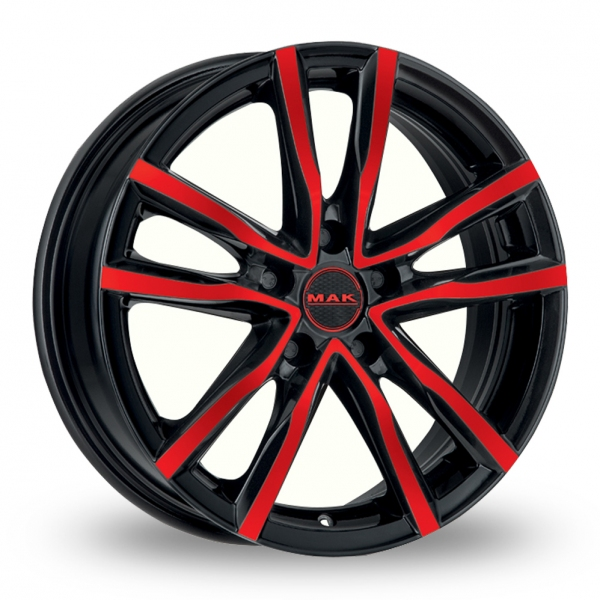 "Picture of 15"" MAK Milano Black/Red"