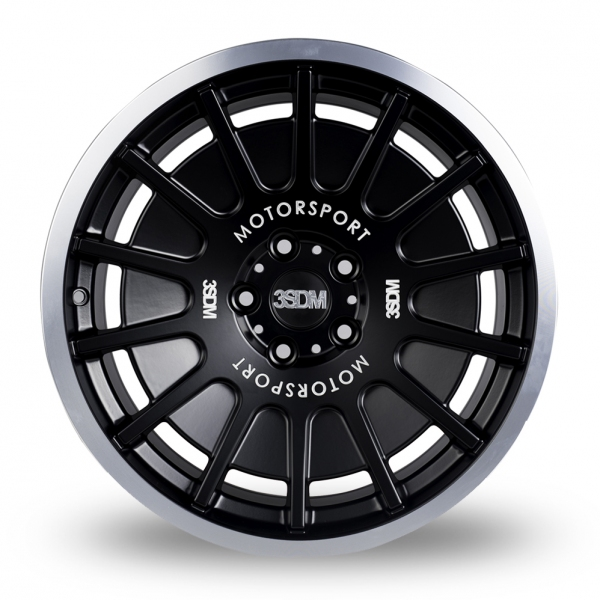3SDM 0.66 Wider Rear Black Polished Rim