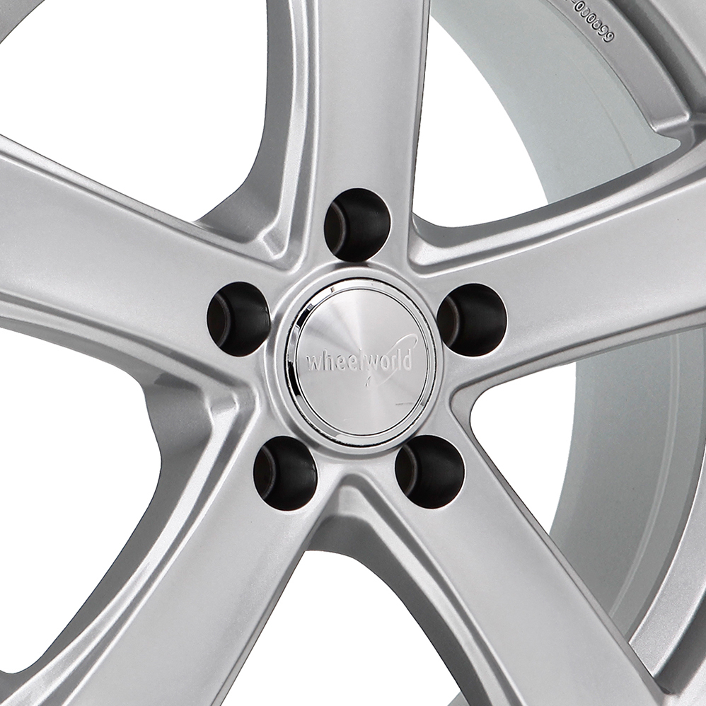 17 Inch Wheelworld WH24 Silver Alloy Wheels