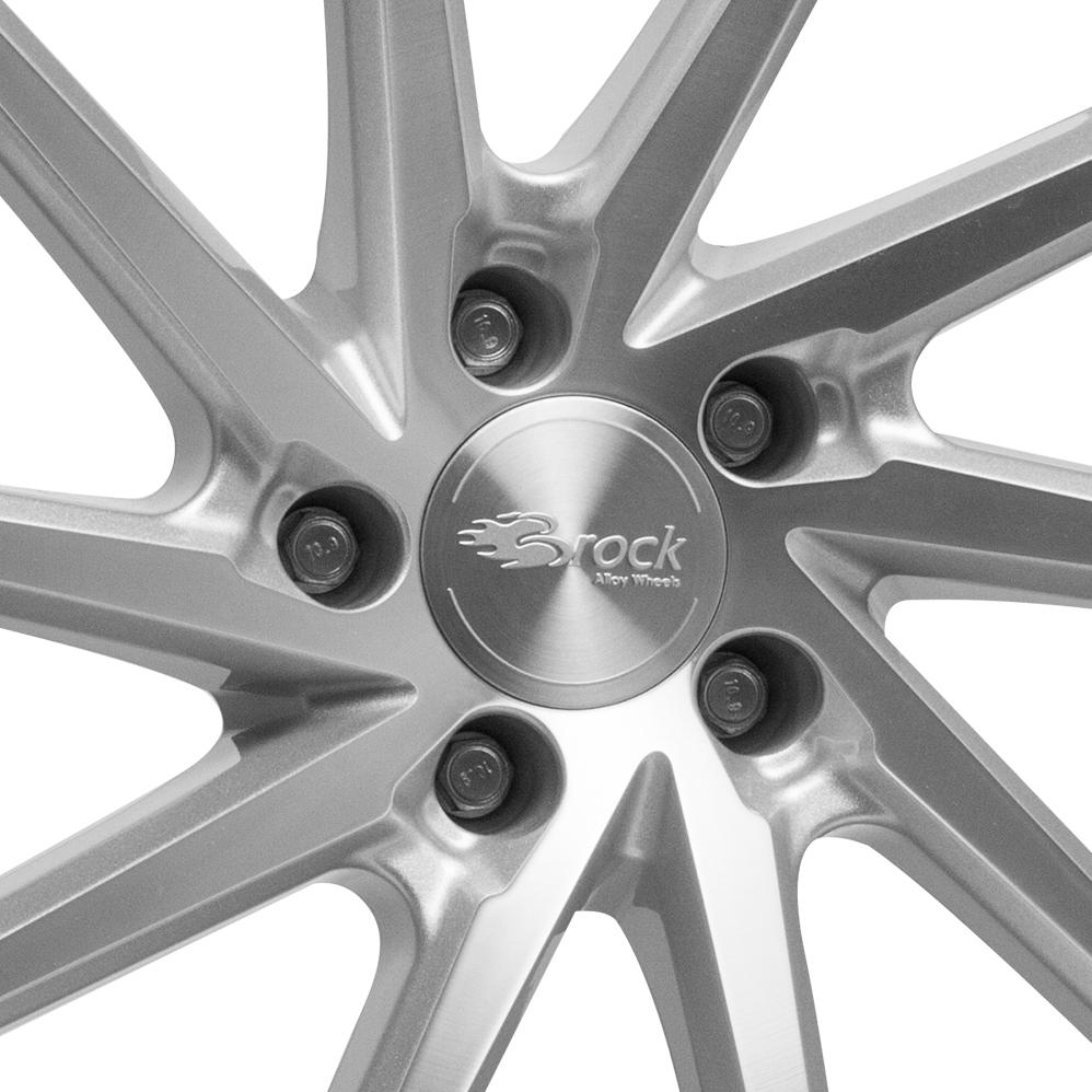 20 Inch Brock B37 Silver Polished Alloy Wheels