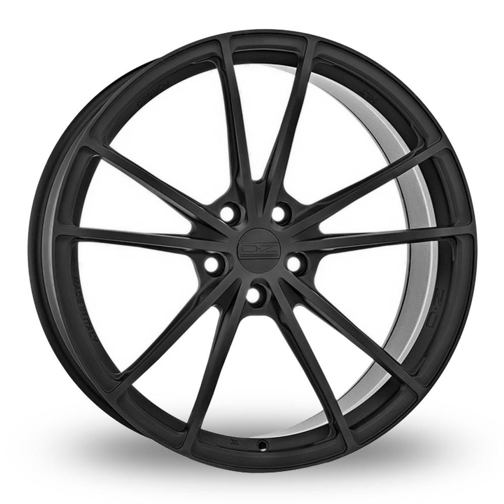 19 Inch OZ Racing Forged Zeus Black Anodised Alloy Wheels