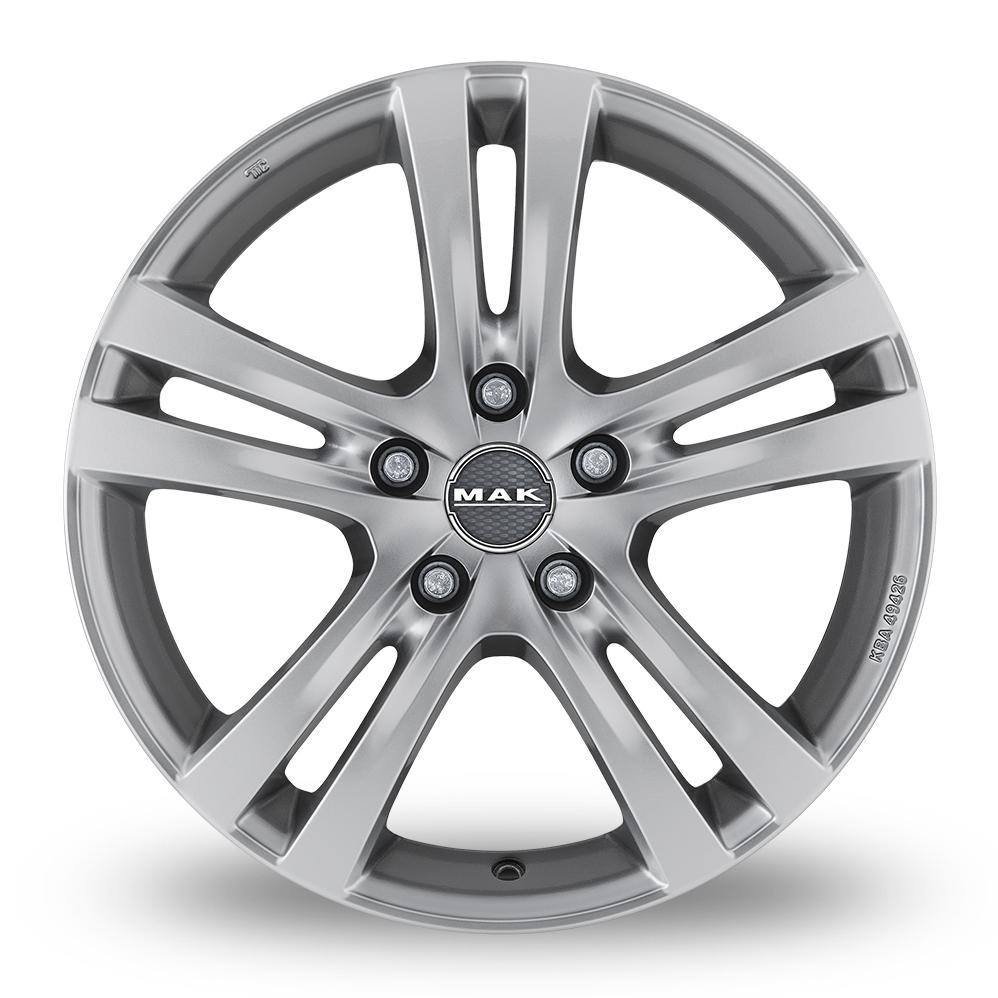 15 Inch MAK Zenith Hyper Silver Alloy Wheels
