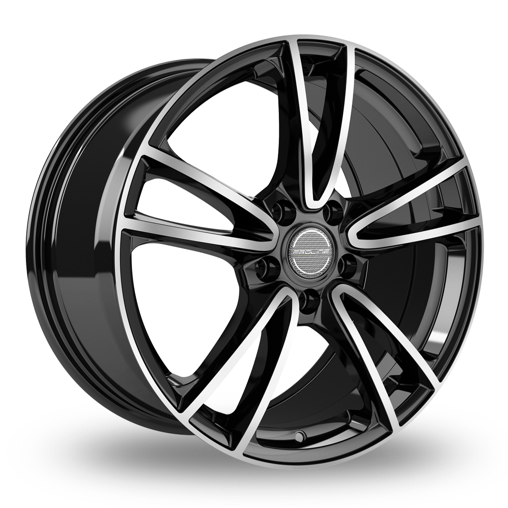 17 Inch Proline CX300 Black Polished Alloy Wheels
