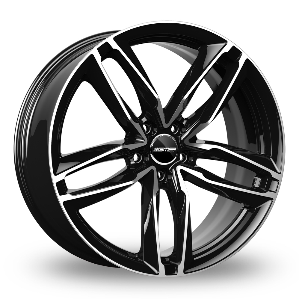 20 Inch GMP Italia Atom Black Polished Alloy Wheels