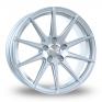 8x18 (Front) & 9x18 (Rear) Bola CSR Crystal Silver Alloy Wheels