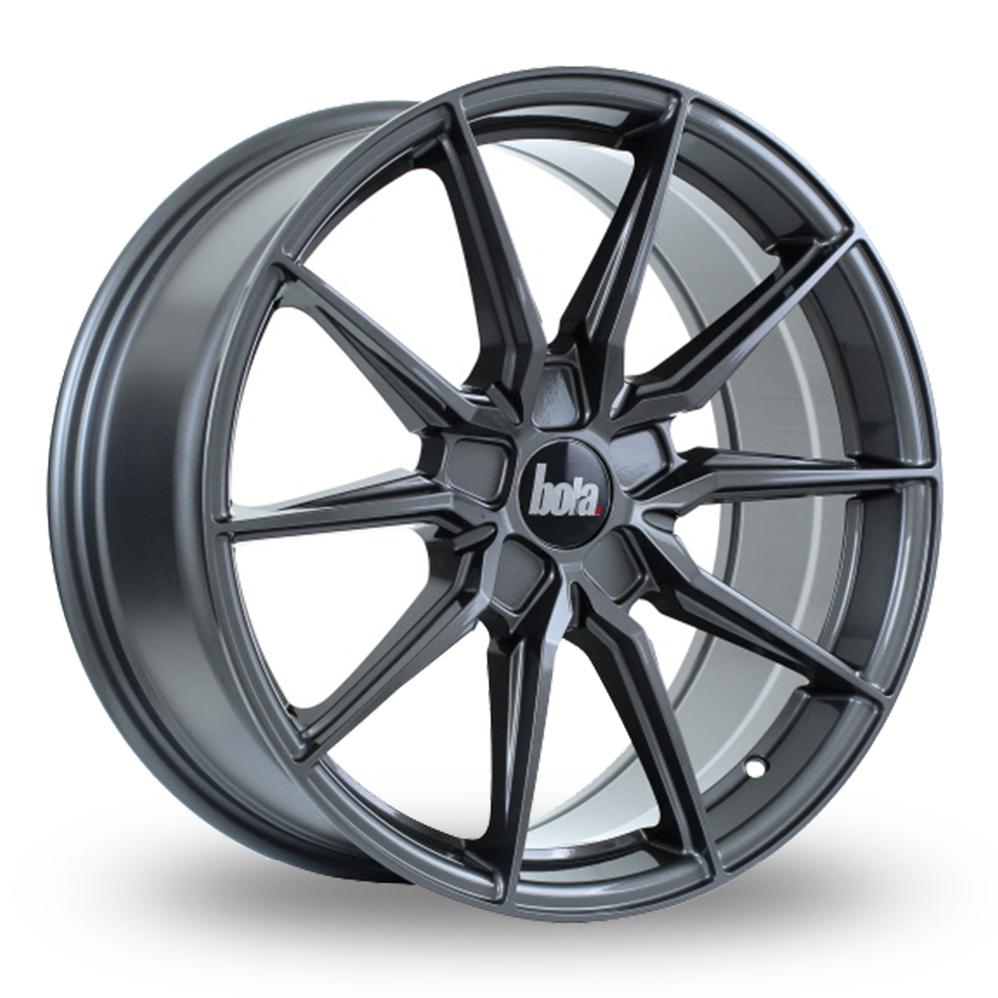 19 Inch Bola B16 Gloss Gunmetal Alloy Wheels