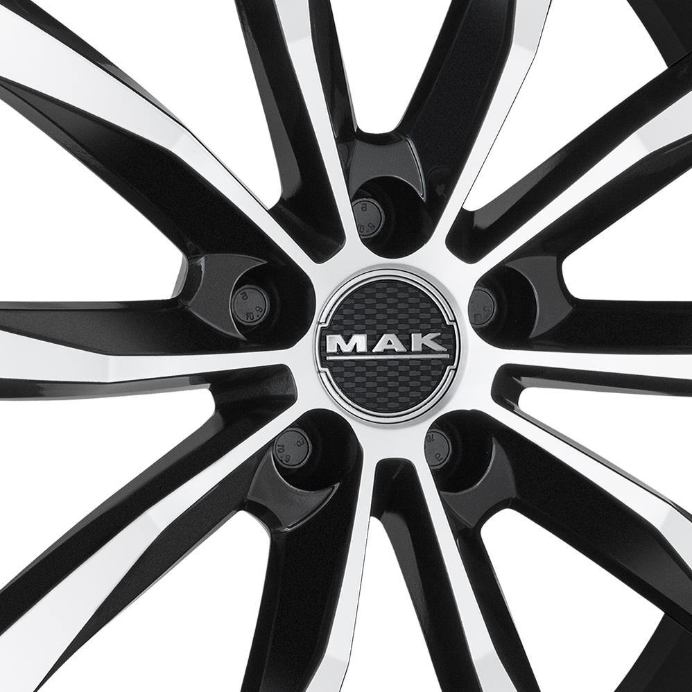 19 Inch MAK Wolf Black Mirror Alloy Wheels