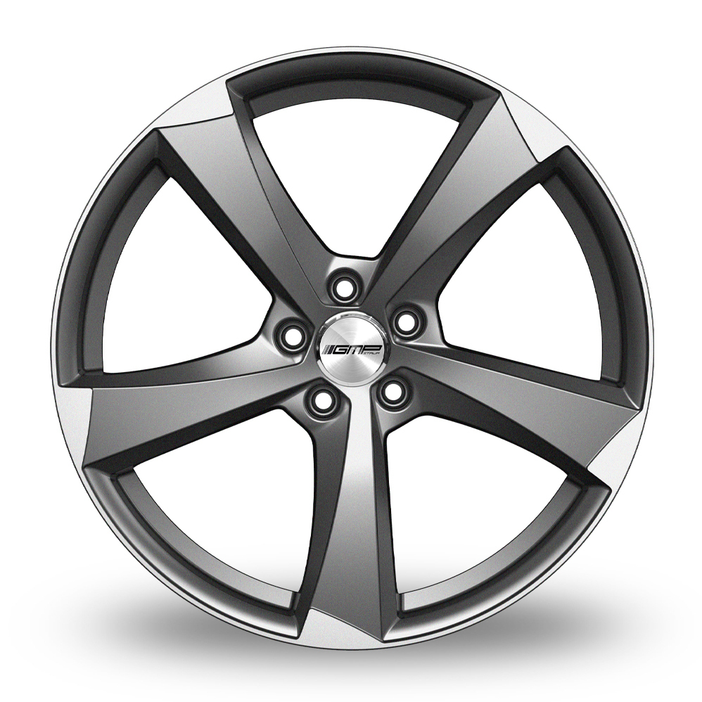 17 Inch GMP Italia Ican Anthracite Polished Alloy Wheels
