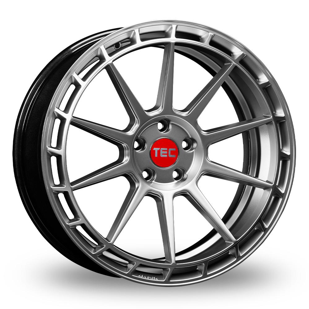 """20"""" TEC Speedwheels GT8 Hyper Silver Polished Lip Alloy Wheels"""