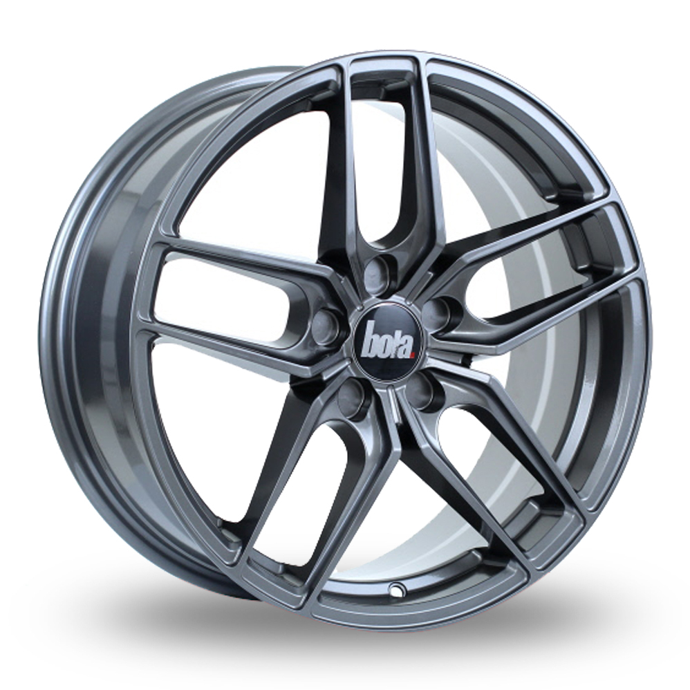 "18"" Bola B11 Gloss Gunmetal Alloy Wheels"