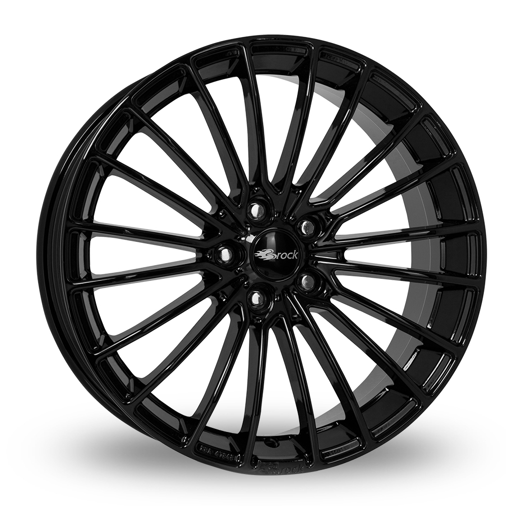 17 Inch Brock B24 Gloss Black Alloy Wheels