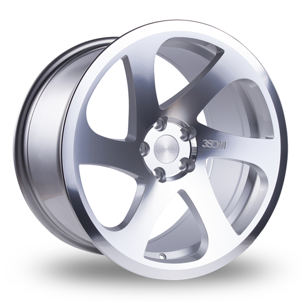 18 Inch 3SDM 0.06 Silver Polished Alloy Wheels