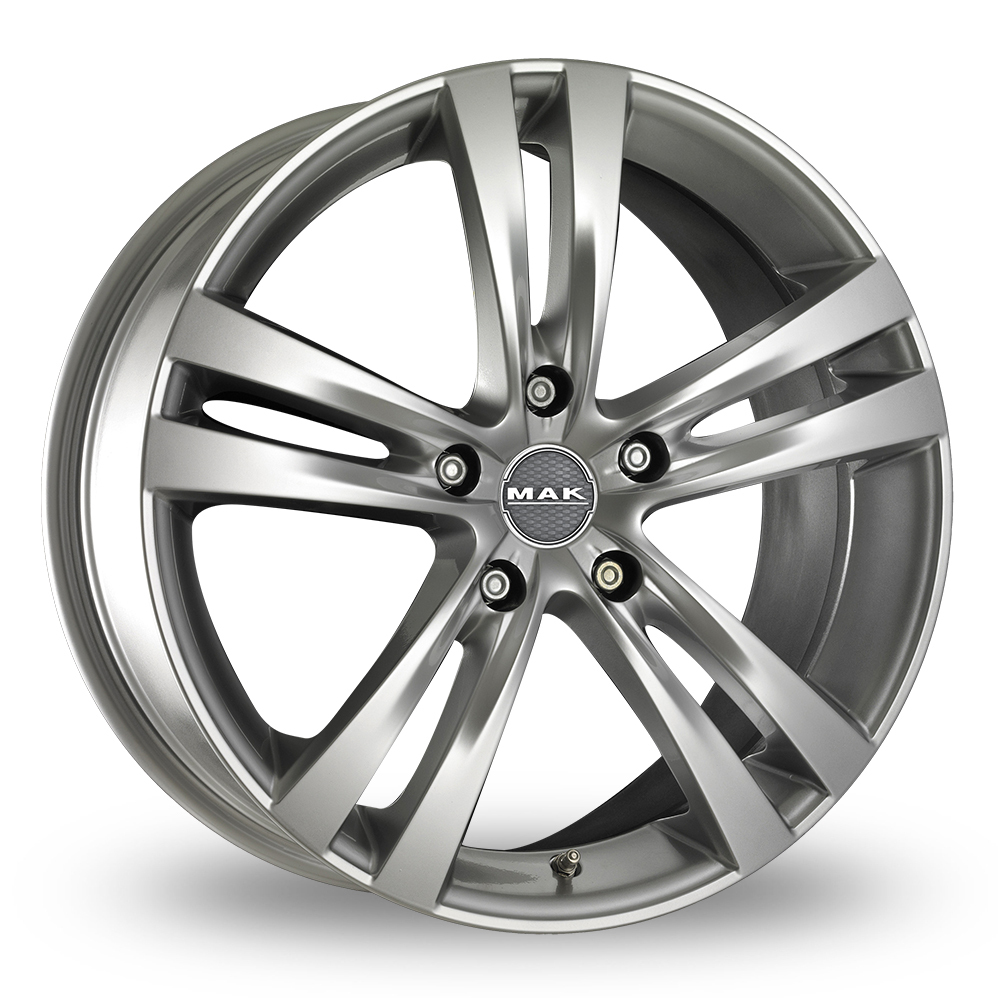 "18"" MAK Zenith Hyper Silver Alloy Wheels"