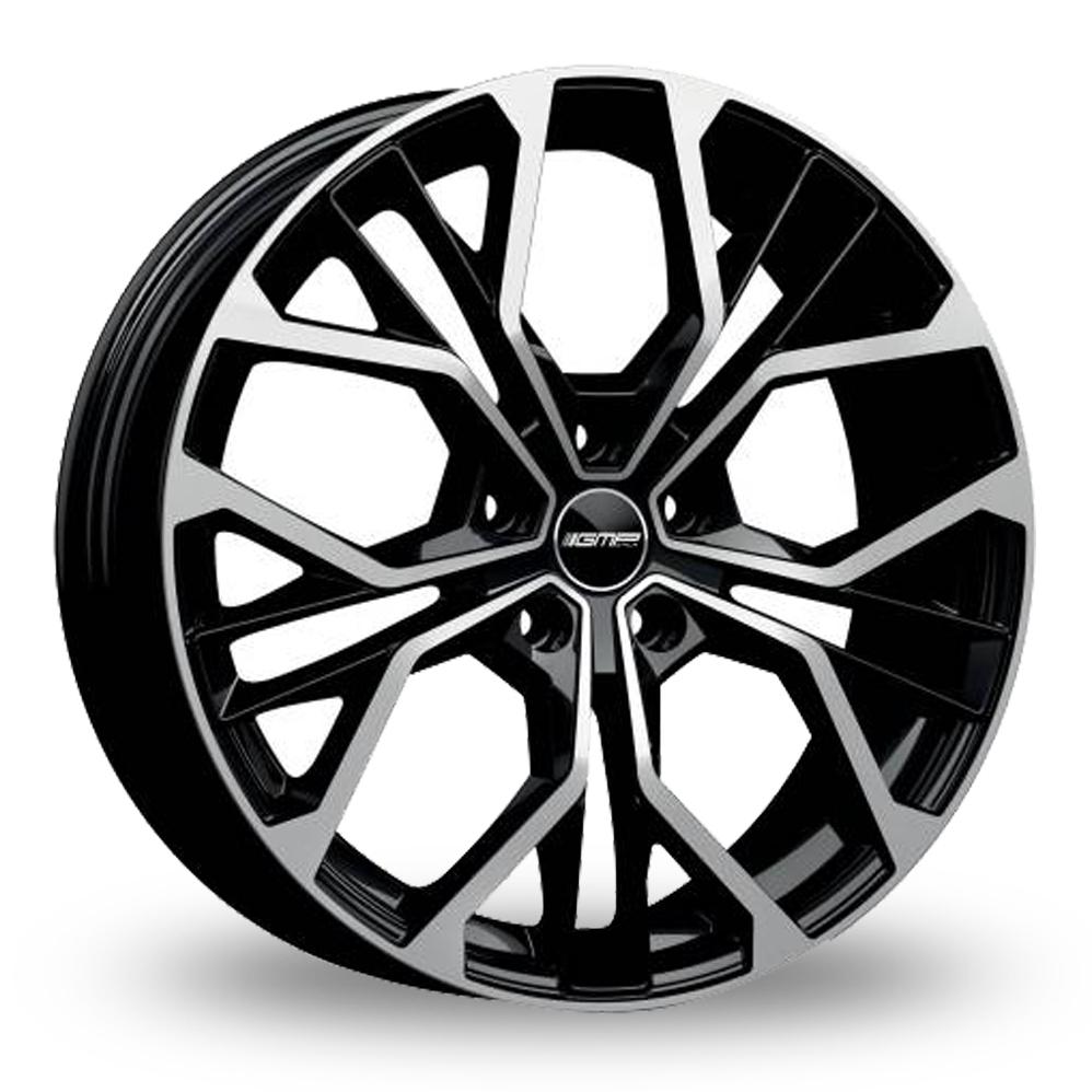 17 Inch GMP Italia Matisse Black Polished Alloy Wheels