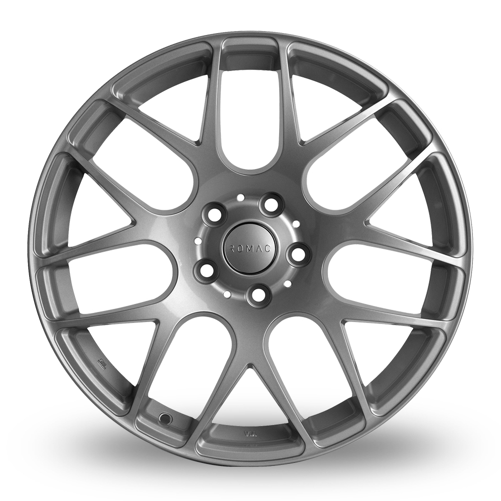 8x18 (Front) & 8.5x18 (Rear) Romac Radium Silver Alloy Wheels
