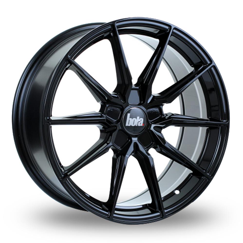 """19"""" Bola B16 Gloss Black Wider Rear Alloy Wheels"""