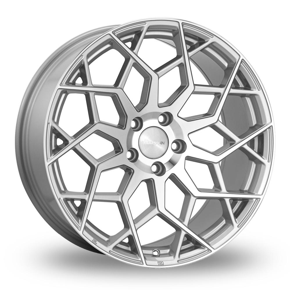 21 Inch VEEMANN V-FS42 Silver Polished Alloy Wheels