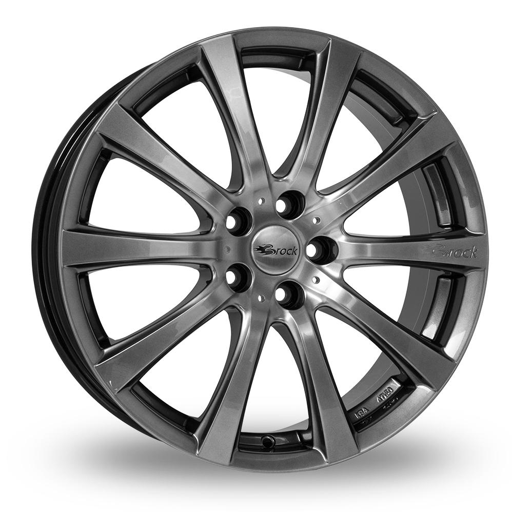 "17"" Brock B21 Chrome Silver Alloy Wheels"