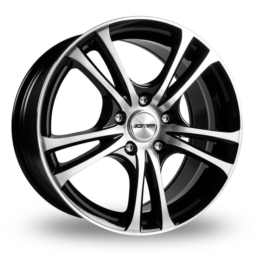 15 Inch GMP Italia Easy-R Black Polished Alloy Wheels
