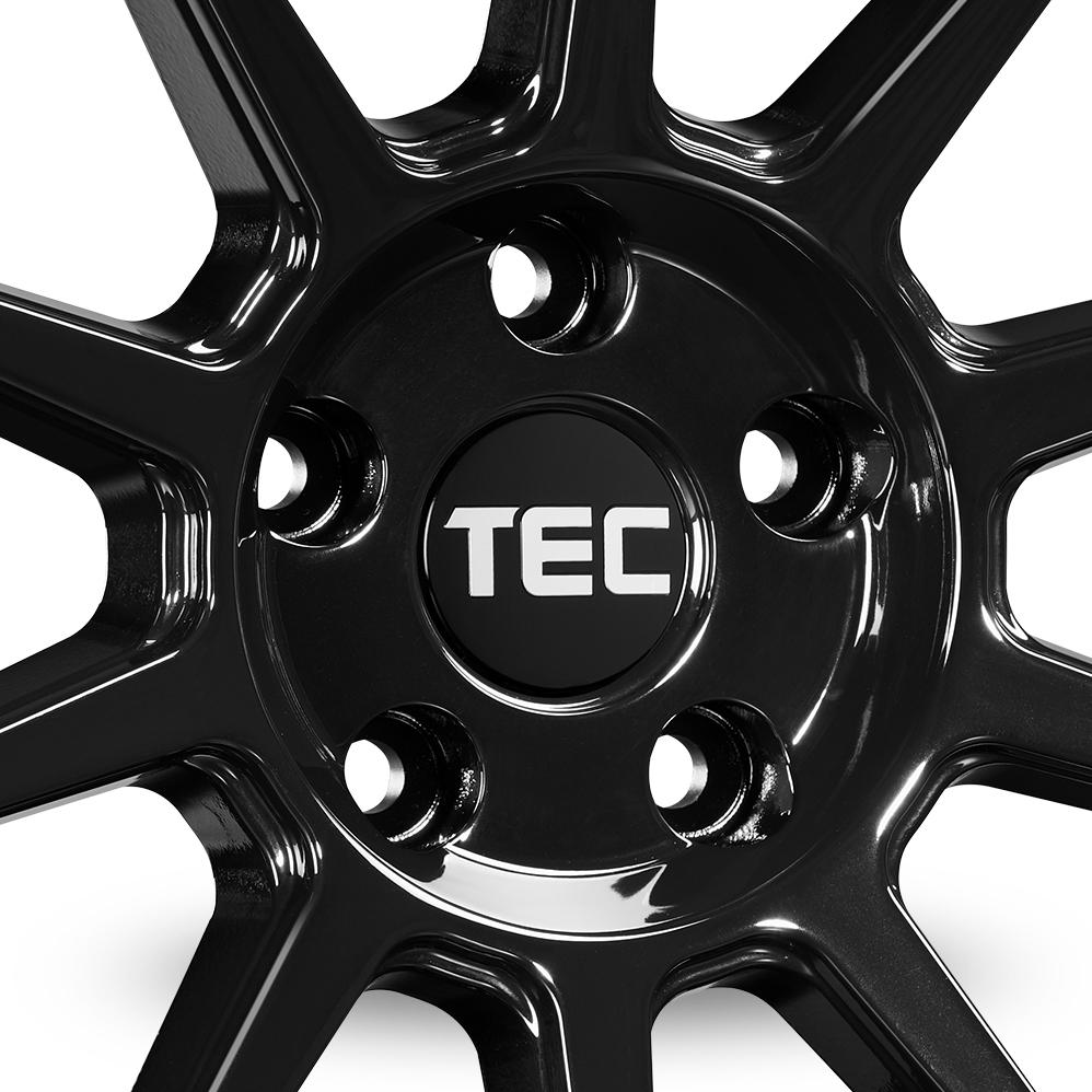 20 Inch TEC Speedwheels GT8 Gloss Black Alloy Wheels