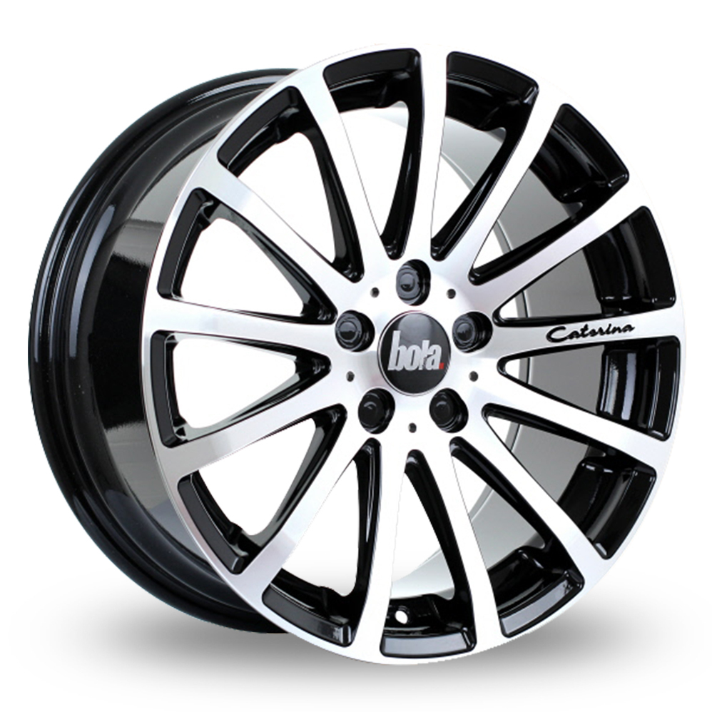 20 Inch Bola XTR Black Polished Alloy Wheels