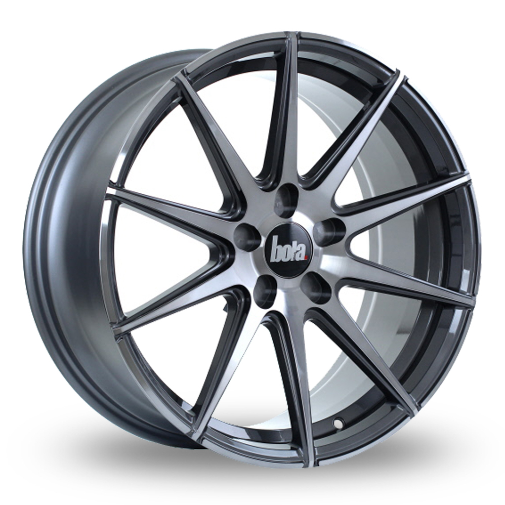 "19"" Bola CSR Gloss Titanium Wider Rear Alloy Wheels"