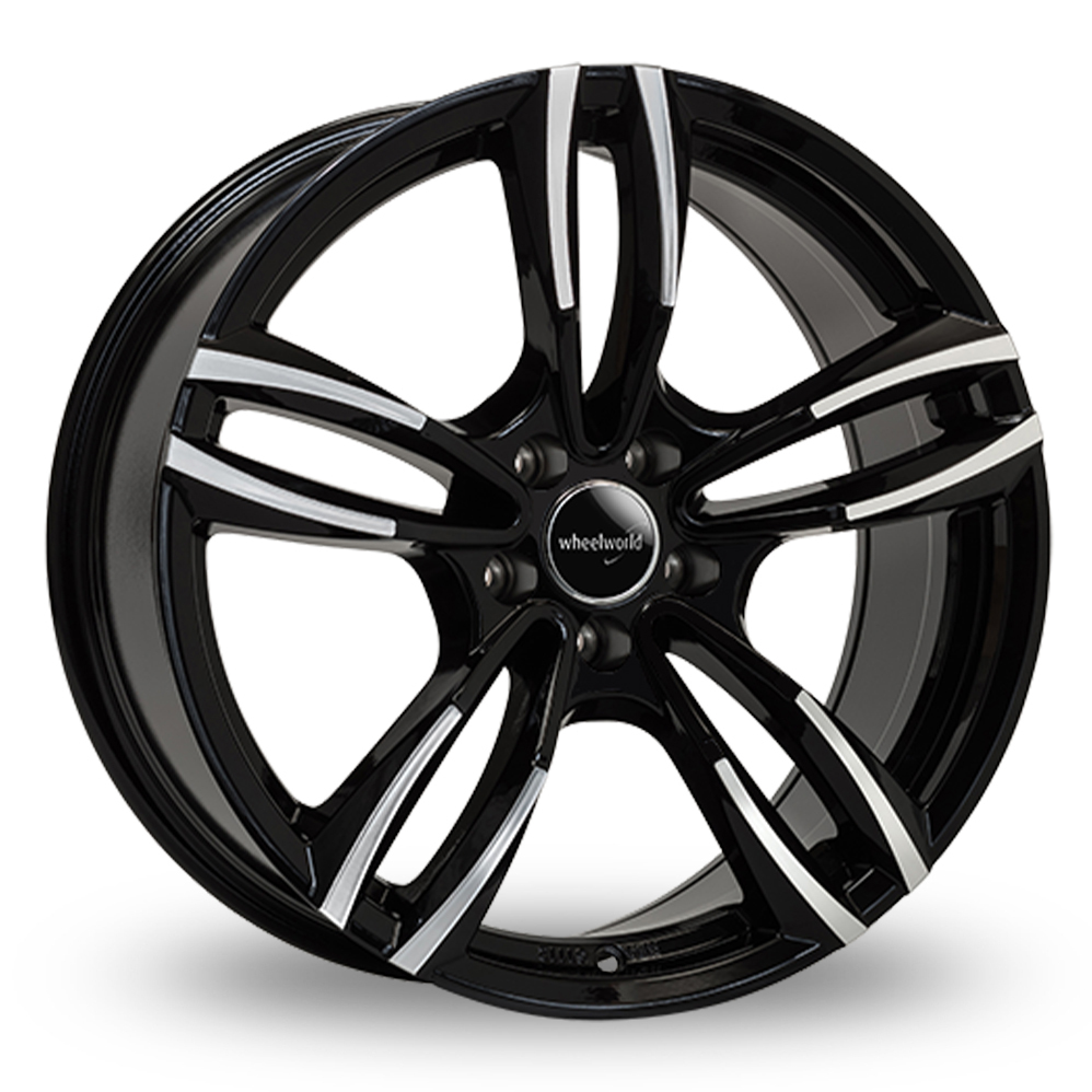 18 Inch Wheelworld WH29 Black Polished Alloy Wheels