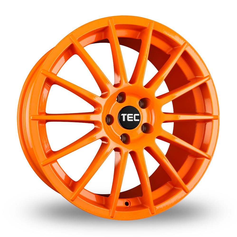 "19"" TEC Speedwheels AS2 Orange Alloy Wheels"